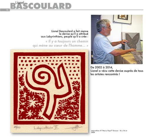 Lionel Bascoulard, l'un des artistes d'Oscarr