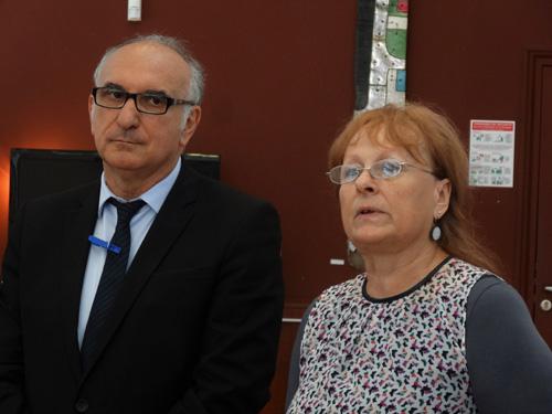 Monsieur le Maire : Carlo Scibetta et La présidente d'Oscarr : Pascale Dieleman