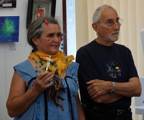 Notre invité d'honneur Henri Baviera et Suzanna Tar, artiste d'Oscarr